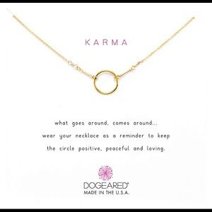 Dogeared Karma necklace in Gold